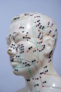 meridiani di agopuntura sul viso